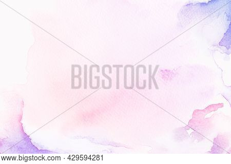 Purple and pink watercolor style background illustration