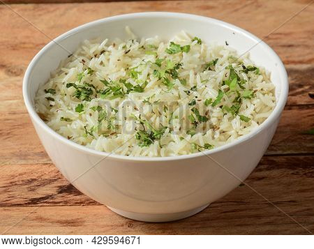 Cumin Rice Or Jeera Rice Is A Popular Indian Main Course Item Made Using Basmati Rice Flavored With