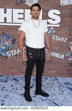 LOS ANGELES - AUG 08: Duke Davis Roberts arrives for the STARZ 'Heels' Los Angeles Premiere on August 08, 2021 in Los Angeles, CA