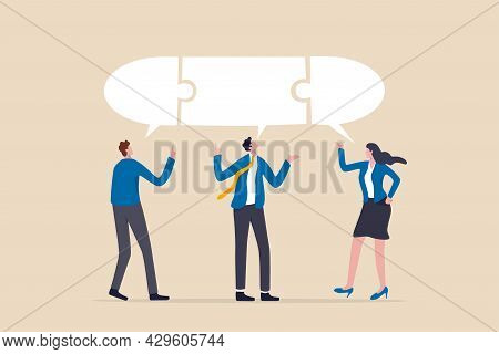 Compromise To Get Solution In Business Meeting, Leadership To Communicate And Connect Ideas In Brain