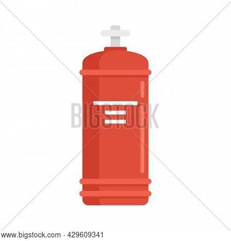 Gas Cylinder Valve Icon. Flat Illustration Of Gas Cylinder Valve Vector Icon Isolated On White Backg