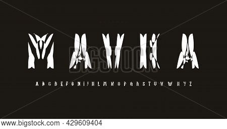 Ethnic Font Alphabet Letters. Modern Logo Shirts Typography. Mistery Typographic Design. Display Let
