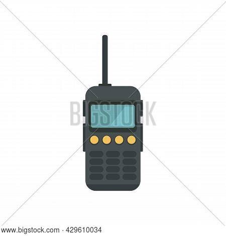 Walkie Talkie Antenna Icon. Flat Illustration Of Walkie Talkie Antenna Vector Icon Isolated On White