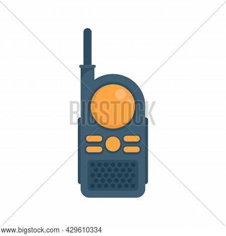 Toy Walkie Talkie Icon. Flat Illustration Of Toy Walkie Talkie Vector Icon Isolated On White Backgro