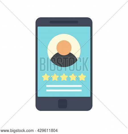 Smartphone Reputation Icon. Flat Illustration Of Smartphone Reputation Vector Icon Isolated On White