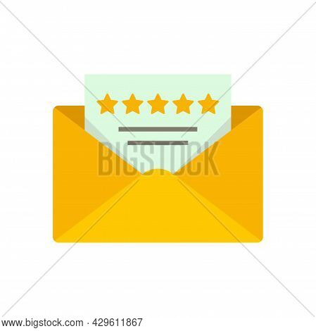 Mail Reputation Icon. Flat Illustration Of Mail Reputation Vector Icon Isolated On White Background
