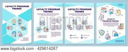 Loyalty Program Trends Brochure Template. Reward System Tendencies. Flyer, Booklet, Leaflet Print, C