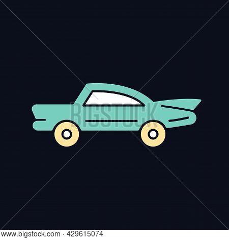 Classic Car Rgb Color Icon For Dark Theme. Nostalgic Value. Vintage Automobile. Original Production