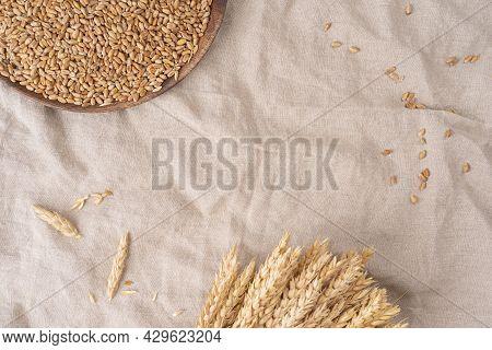 Wheat Grains ,grain Of The Wheat , Whole Wheat Grains