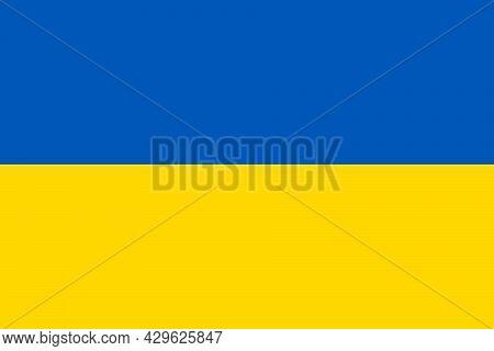National Flag Of Ukraine Original Size And Colors Vector Illustration, Ukrainian Peoples Republic Fl