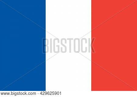 National Flag Of France Original Size And Colors Vector Illustration, Drapeau Francais Tricolour Or