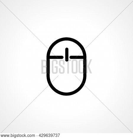 Computer Mouse Simple Isolated Web Vector Icon.