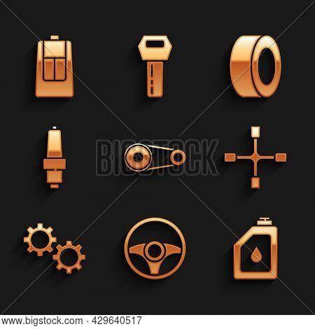 Set Timing Belt Kit, Steering Wheel, Canister For Motor Oil, Wheel Wrench, Gear, Car Spark Plug, Tir