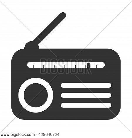 Radio Icon Isolated On White Background. Communication, Communication, Alert And Entertainment Symbo
