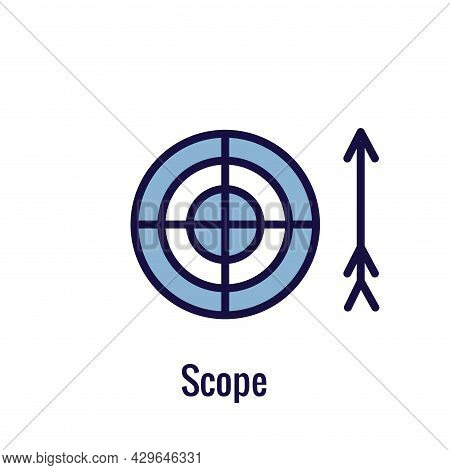 Agile Scrum Process And Methodology  Icon With Arrow