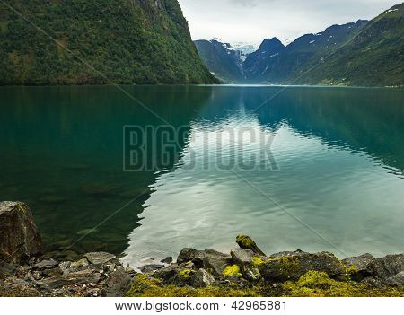 Lake Oldenvatnet In Norway