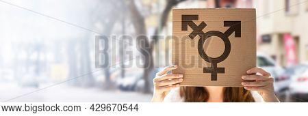 Transgender Symbol And Gender Sex Equality Concept