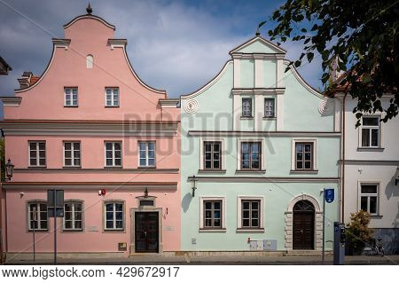 Radom, Poland - July 26, 2021: Two Old Houses Esterka And Gaska