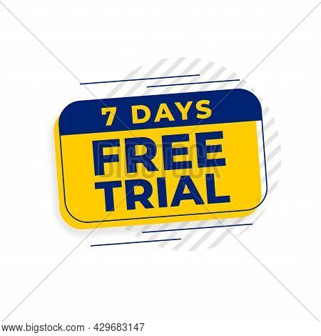 7 Days Free Trial Access Background Design Vector Illustration