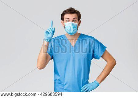 Coronavirus Outbreak, Healthcare Workers Fighting Disease, Hospitals Concept. Smart And Creative Doc