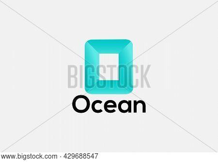 Ocean- Initial Modern O Letter Logo Design Template