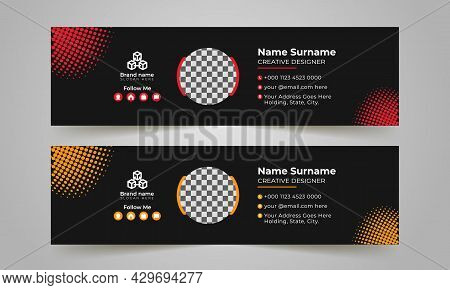 Red And Black Corporate Business Multi Purpose Email Signature Templates