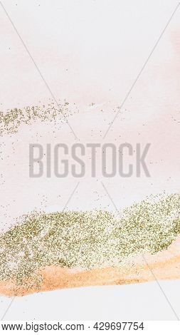 Gold glitter pink feminine phone wallpaper