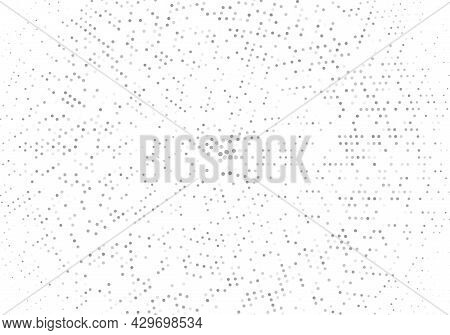 Abstract Halftone Dotted Background. Monochrome Pattern With Dot And Circles. Vector Modern Futurist