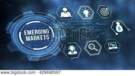 Internet, Business, Technology And Network Concept. Emerging Markets. 3d Illustration