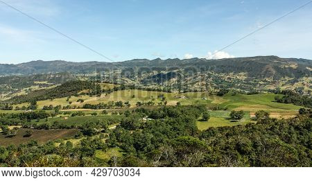 Panoramic View Of The Mountains And The Andes, Province Of Cundinamarca. Colombia.