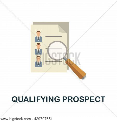 Qualifying Prospect Flat Icon. Colored Sign From Customer Management Collection. Creative Qualifying