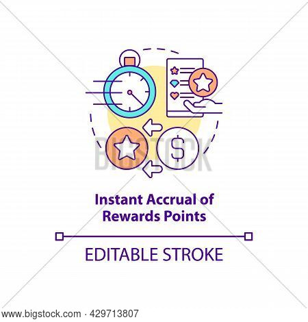 Instant Accrual Of Rewards Points Concept Icon. Meet Customers Needs Abstract Idea Thin Line Illustr