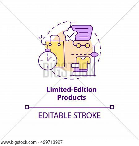 Limited-edition Products Concept Icon. Exclusive Product Offer Abstract Idea Thin Line Illustration.