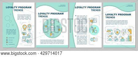 Loyalty System Trends Brochure Template. Reward System Tendencies. Flyer, Booklet, Leaflet Print, Co