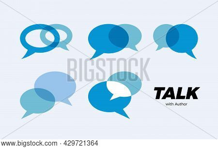Chat Talk Speak Icon, Communication Consulting Logo, Answer Dialogue Messaging Sign, Consult Support