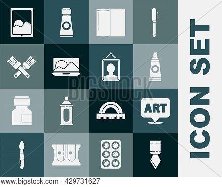 Set Palette Knife, Speech Bubble With Text Art, Tube Paint Palette, Paper Towel Roll, Laptop, Crosse