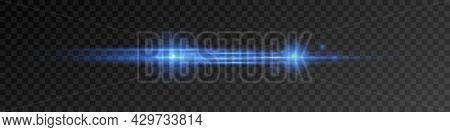 Horizontal Lens Flares Pack. Laser Beams, Horizontal Light Rays.beautiful Light Flares. Png. Vector