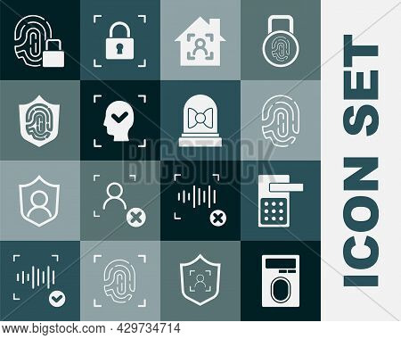 Set Fingerprint With Lock, Digital Door, Smart Home Face Id, Face Recognition, Shield, And Motion Se