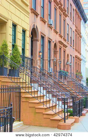 New York Sandsteinhäusern