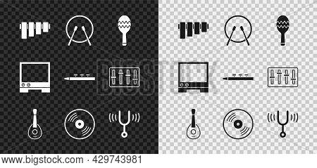 Set Pan Flute, Drum And Drum Sticks, Maracas, Guitar, Vinyl Disk, Musical Tuning Fork, Voice Assista