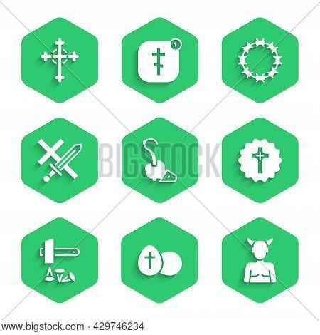 Set Magic Staff, Easter Egg, Krampus, Heck, Christian Cross, Crucifixion Of Jesus, Crusade, Crown Th