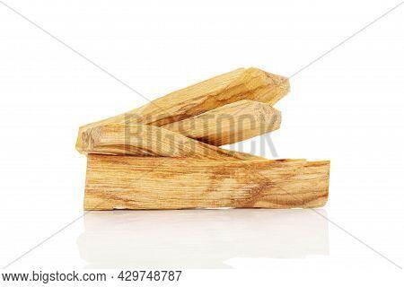 Palo Santo Wood Sticks Isolated On White Background.