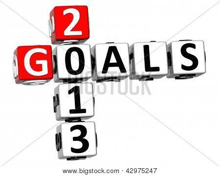 3D Goals 2013 Crossword