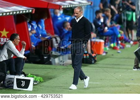 Barcelona, Spain. 08th August 2021 . Massimiliano Allegri, Head Coach Of Juventus Fc  During The Pre
