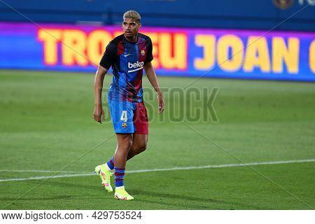 Barcelona, Spain. 08th August 2021 . Ronald Araujo Of Fc Barcelona  During The Pre-season Friendly M