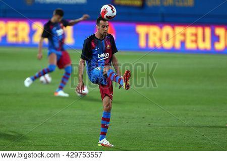 Barcelona, Spain. 08th August 2021 . Sergio Busquets Of Fc Barcelona  During The Pre-season Friendly