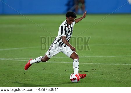 Barcelona, Spain. 08th August 2021 . Juan Cuadrado Of Juventus Fc  During The Pre-season Friendly Ma
