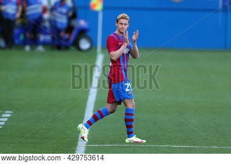 Barcelona, Spain. 08th August 2021 . Frenkie De Jong Of Fc Barcelona  During The Pre-season Friendly