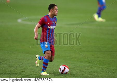 Barcelona, Spain. 08th August 2021 . Sergino Dest Of Fc Barcelona  During The Pre-season Friendly Ma
