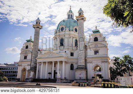 Famous Karls Church In Vienna - Vienna, Austria - August 1, 2021
